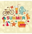 Summer cartoon set vector image