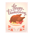 thanksgiving with deep fried turkey and text vector image