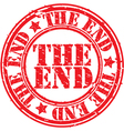 The end stamp vector image