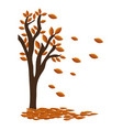 autumn tree plant isolated icon vector image
