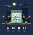 flat style modern icon design of cafe building vector image
