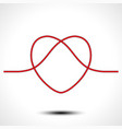 Knot heart shape icon logo design vector image