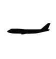 Single large aircraft silhouette vector image vector image