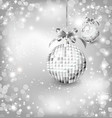 Silver of empty snowglobes Chrisymas background vector image vector image