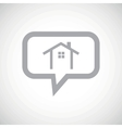 Cottage grey message icon vector image