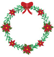 Christmas wreath elements vector image