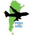 fly me to the Argentina vector image