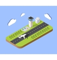 Isometric city airport vector image