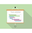 project time schedule vector image