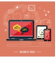 Business tools concept vector image
