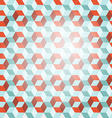 Cube Retro Background vector image