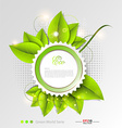 Fresh leaves background template vector image