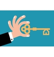 key in hand vector image