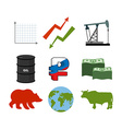 Set for business graphics Set to infographics Icon vector image