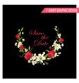 Vintage Floral Graphic Design Summer Rose vector image