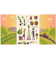 Winemaking Design Concept and Icon Set vector image