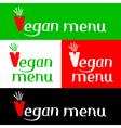 Vegan menu hand drawing lettering vector image