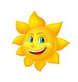beautiful cartoon sun vector image vector image