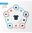 garment icons set collection of sweatshirt vector image