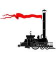 vintage locomotive vector image