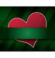 green abstract background with heart vector image vector image