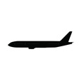 Single large aircraft silhouette 2 vector image vector image