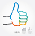 infographics hand good sign design diagram line vector image vector image