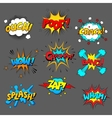 Comic sound effect set vector image