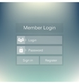 Abstract creative concept member login form vector image