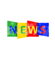 NEWS letters for you design vector image