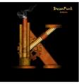 Steam punk letter vector image