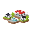 Building of City Isometric design graphic vector image
