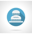Decorative water flowing blue round icon vector image