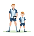 Father and son soccer team vector image