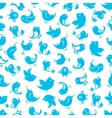 Funny little birds seamless pattern vector image