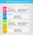 Modern 3d infographic colorful design template vector image