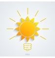 modern idea with sun background vector image