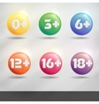 Set Of Age Restriction Signs vector image