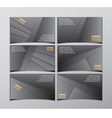 set of six black visit cards vector image