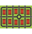 Tennis courts vector image