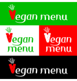 Vegan menu hand drawing lettering vector image