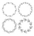 Decorative hand drawn floral frames vector image