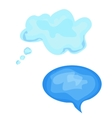 watercolor message or chat icon or bubble vector image