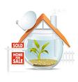 Aquarium home sold vector image vector image