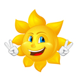 blue eyed smiling sun vector image vector image