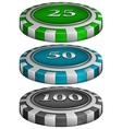 Casino poker chips vector image vector image