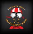 label motorbike shop vector image