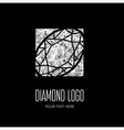 Diamond grunge logo 3 vector image vector image
