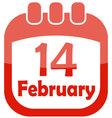 icon valentine calendar vector image