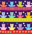 Cartoon bear background vector image vector image